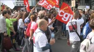 150 mil personas se manifiestan en París contra los decretos laborales de Emmanuel Macron