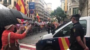 Miles de manifestantes claman en Barcelona por la unidad de España