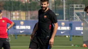 Piqué y Ter Stegen, novedades en el entrenamiento del Barça