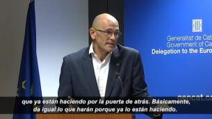 Romeva acusa al Gobierno de estar aplicando el 155