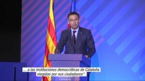 """Bartomeu: """"Ante el 155 reiteramos nuestro apoyo a las instituciones democráticas de Cataluña"""""""
