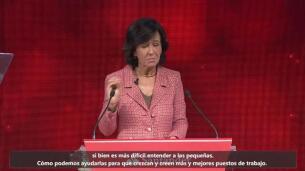 Ana Botín habla de la transformación digital en la Conferencia Internacional de Banca