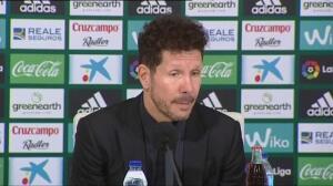 """Simeone: """"El resultado es bueno y el resultado mejor"""""""