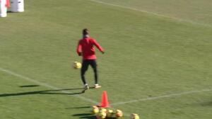 El Atlético de Madrid prepara el encuentro frente al Alavés