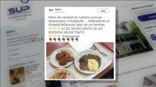 Interior abre una investigación por el menú de Navidad de los policías destinados en Barcelona