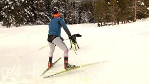 La nueva modalidad de esquí se llama 'skijoring'