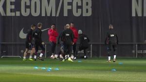 El FC Barcelona prepara el partido de Copa ante el Espanyol