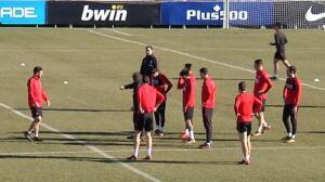 El Atlético regresa al trabajo con la mente puesta en el partido de Copa con el Sevilla