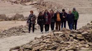 La sequía hace que se pueda volver a ver el cementerio de Villar del Buey