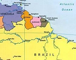 surinam mapa Sabrías situar Surinam en el mapa de América? surinam mapa