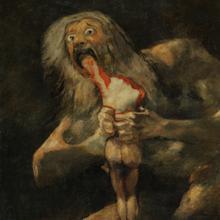 """Detail von «Saturn verschlingt seinen Sohn», von Goya """"width ="""" 220 """"height ="""" 220"""
