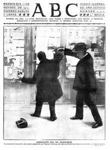 Portada de 1912 del asesinato de Canalejas