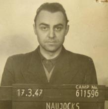 Alfred Naujocks, en una imagen de 1947