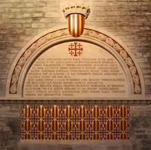 Cenotafio de Ramón Berenguer IV, colocado en el año 1893.