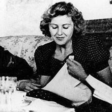 Eva Braun, esposa de Adolf Hitler